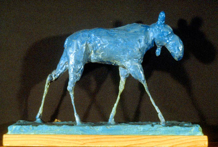 Moose, Wire, Plaster, Resin, and Paint, 1982