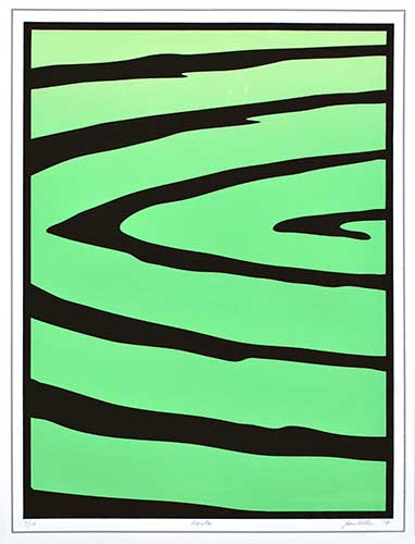 "<em>Ripples</em>, 4 color screen print, 21.5"" X 16.25"", 2014"