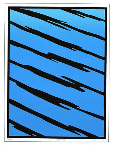 "Slanted, 4 color screen print, 21.5"" X 16.25"", 2014"